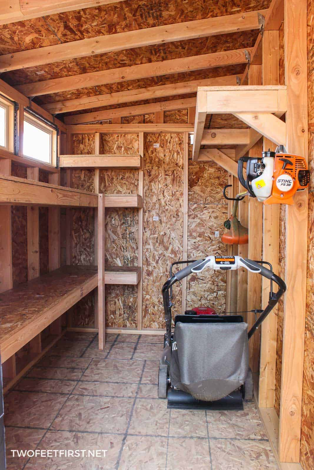 Find out how to construct garage cabinets in a shed or storage